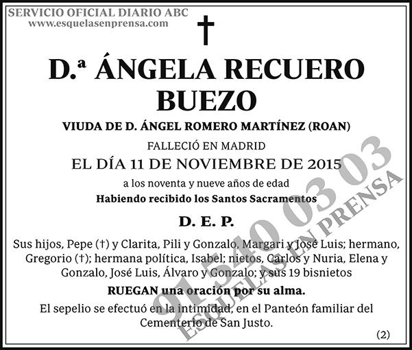 Ángela Recuerdo Buezo